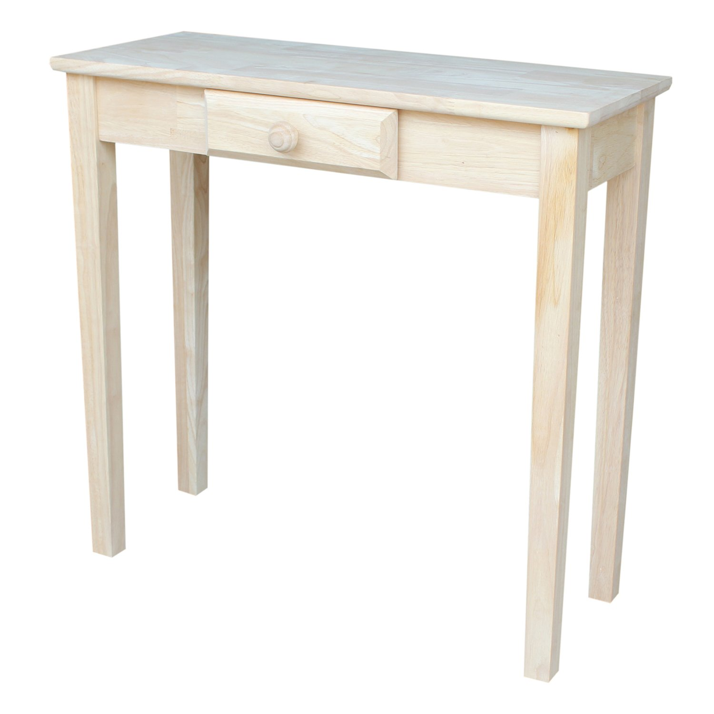 Shaker Hall Table. International Concepts Ot 3012 Rectangular Hall Table,  Unfinished Shaker Table