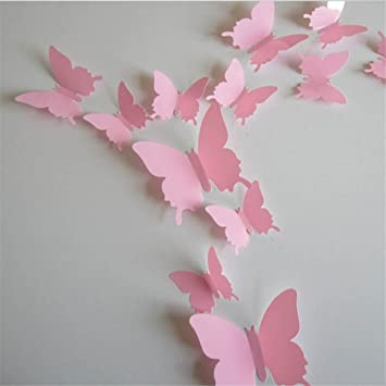 EXIU beweglich 3D Schmetterling Aufkleber-Wand Schmetterlinge DIY ...