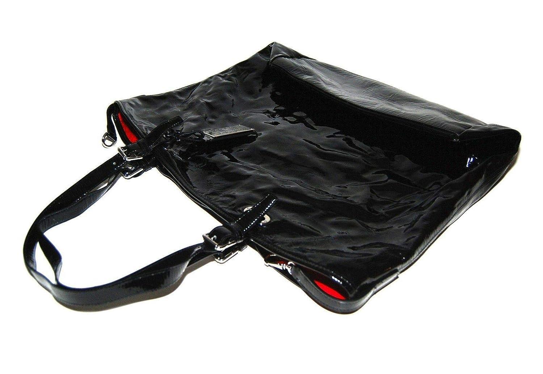 Ralph Lauren - Bolso de mano para mujer, color negro y rojo ...