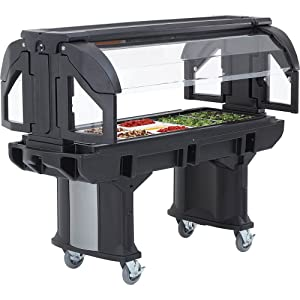 Cambro VBRHD6110 Versa Food Bar Serving Buffet, Cold Food, 6 ft. Unit, Holds (5) Full Size Food Pans