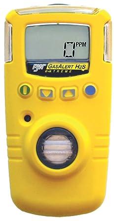 BW GasAlert Extreme - Detector de ácido sulfhídrico (0-100 ppm H2S)