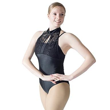 258739f21f0e Amazon.com  HDW DANCE Women Shiny Lace Turtle Neck Ballet Dance ...