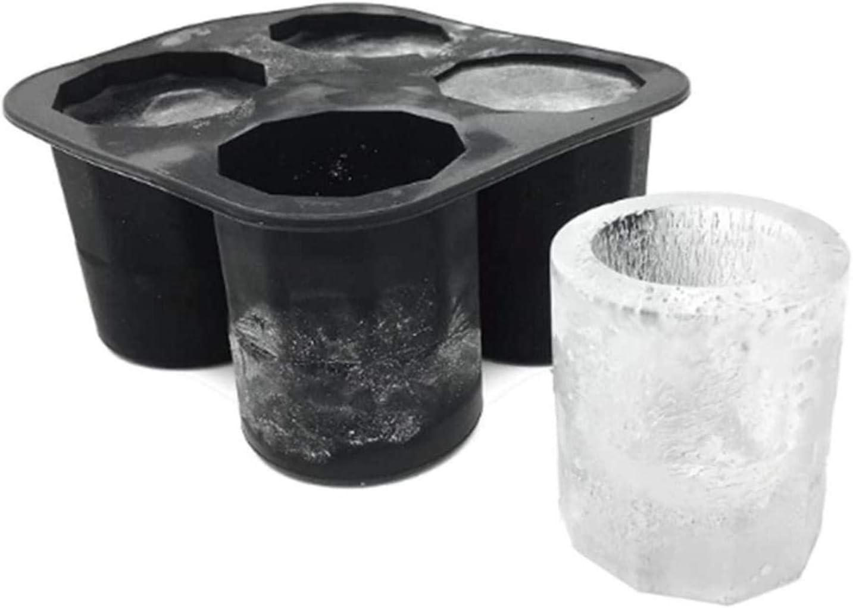 Molde del cubo de hielo 4 Forma de Copa de silicona del molde del cubo de hielo tiradores Disparo molde de cristal del hielo bandeja del cubo de la barra del partido de verano de la cerveza la bebida