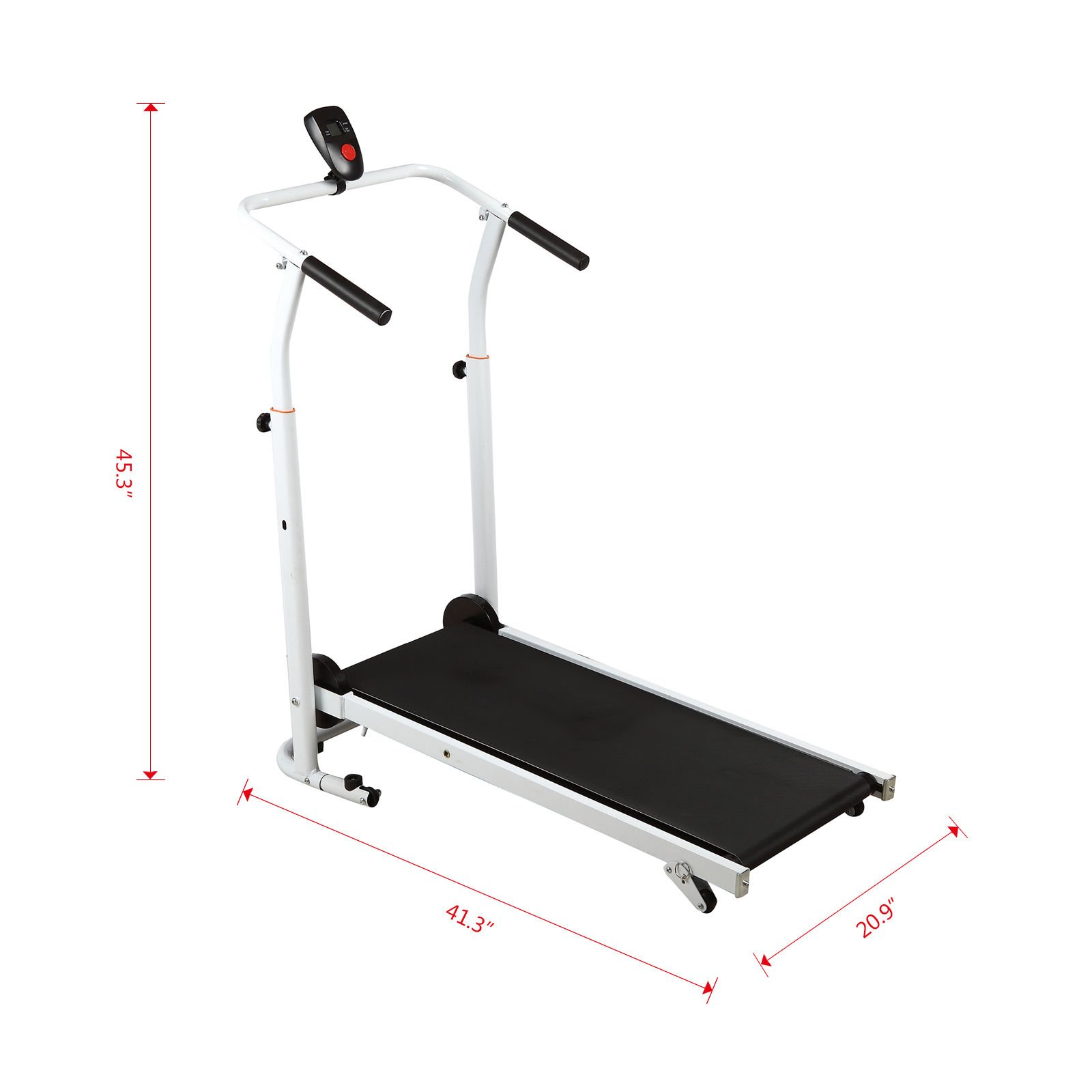 Artist Hand Folding Manual Treadmill Incline Home Gym Maching Cardio Stride Fitness Walking Workouts with Twin Flywheels No Monitor Required by Artist Hand (Image #6)