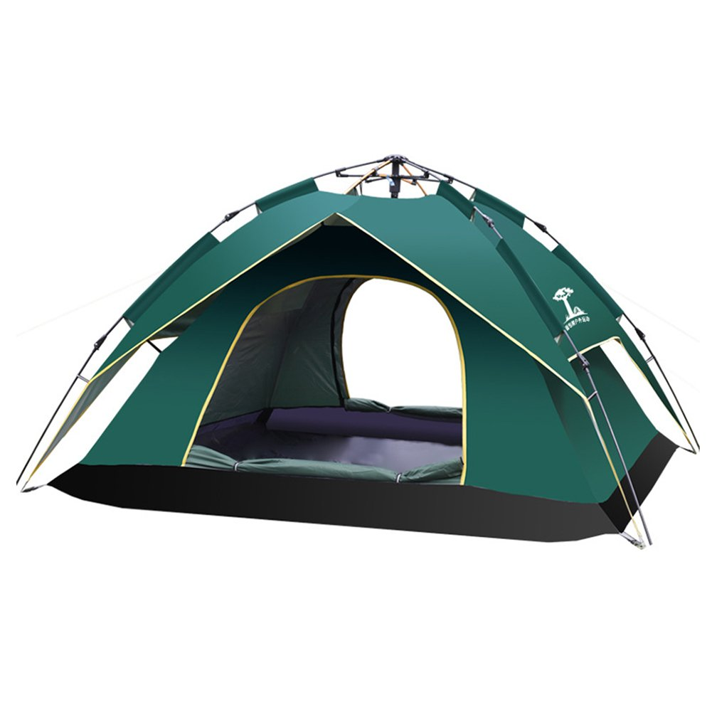 LPATTHERN 2-3 Person Tent Light Weight Waterproof Camping Tent Instant Cabin (Army Green)
