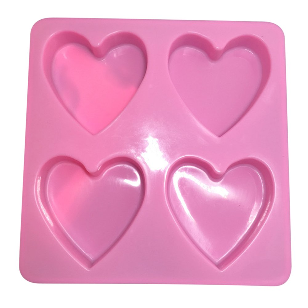 Da.Wa DIY Heart Shaped Mold Non Stick for Fondant Mold Cake Decorating Gumpaste Mold Baking Cookie Chocolate Pastry Mold