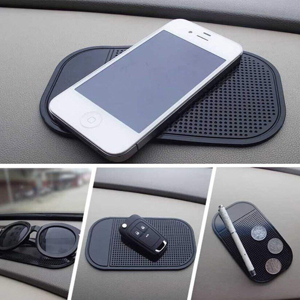 Pad Whiteboards Metal Mirrors Keys,Glass 4 Pack Car Anti-Slide Fixate Sticky Mat Dashboard Anti Slide Cell Phone Mount Holder for Radar Detector Cellphone