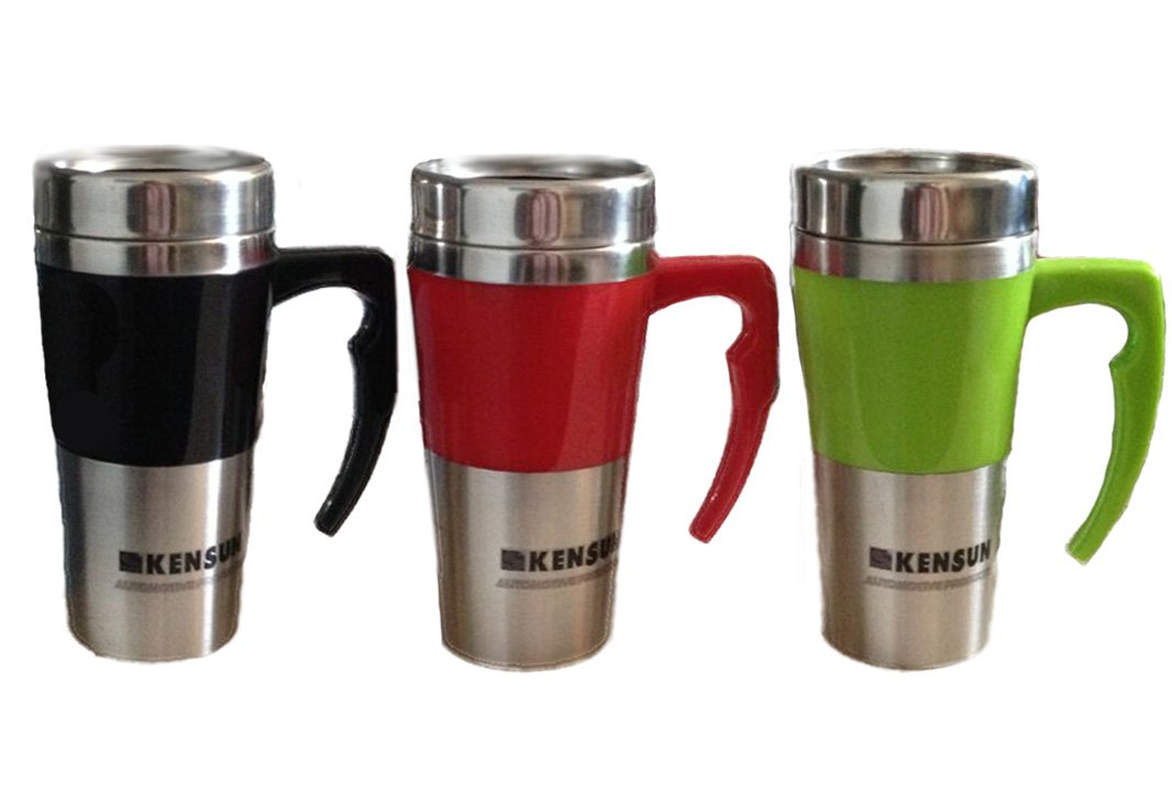 Amazon.com: Kensun 12V Heats to Boiling Car Thermos Mug (350 ml, 12oz Thermos Mug, Black): Kitchen & Dining
