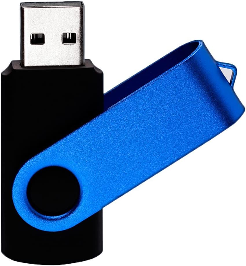 WooTeck 16GB USB Memory Stick 5Pack Flash Drives Swivel Metal Pen Drive with Lanyards Metal Red