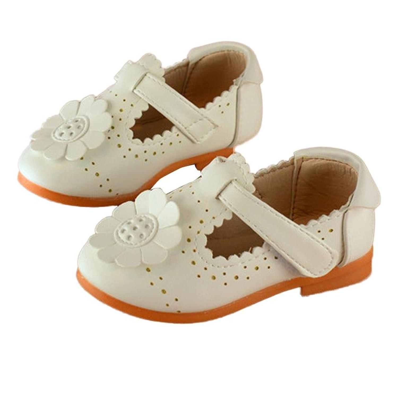 Pour 0-5 ans fille ,Transer ® Enfants fille doucement semelle berceau  princesse en cuir fleur chaussures: Amazon.fr: Chaussures et Sacs