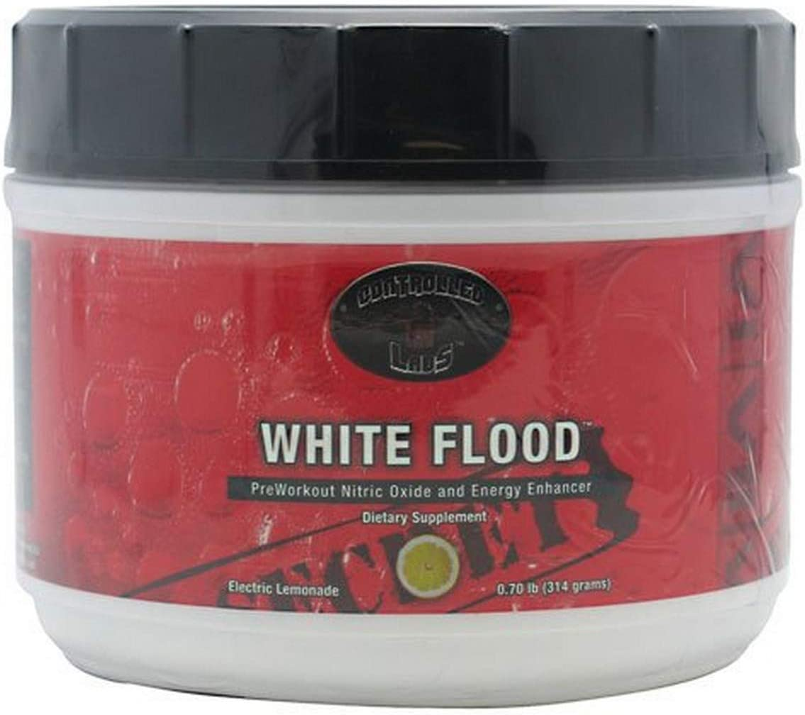 Controlled Labs White Flood, Preworkout Nitric Oxide And Energy Enhancer, 25 Serving, Electric Lemonade, .70-Pound Tub
