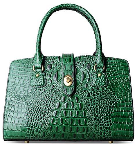Purse PIFUREN Handbags Shoulder Top Handle Green Tote Satchel Bag Women Crocodile HzHqtUw