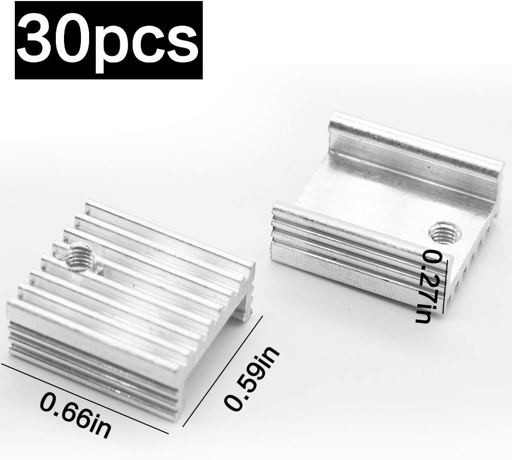 Heatsink Performance Kit YILEGOU Cooler Heat Sink Set Circuit Board Cooling Fin 30 Pack