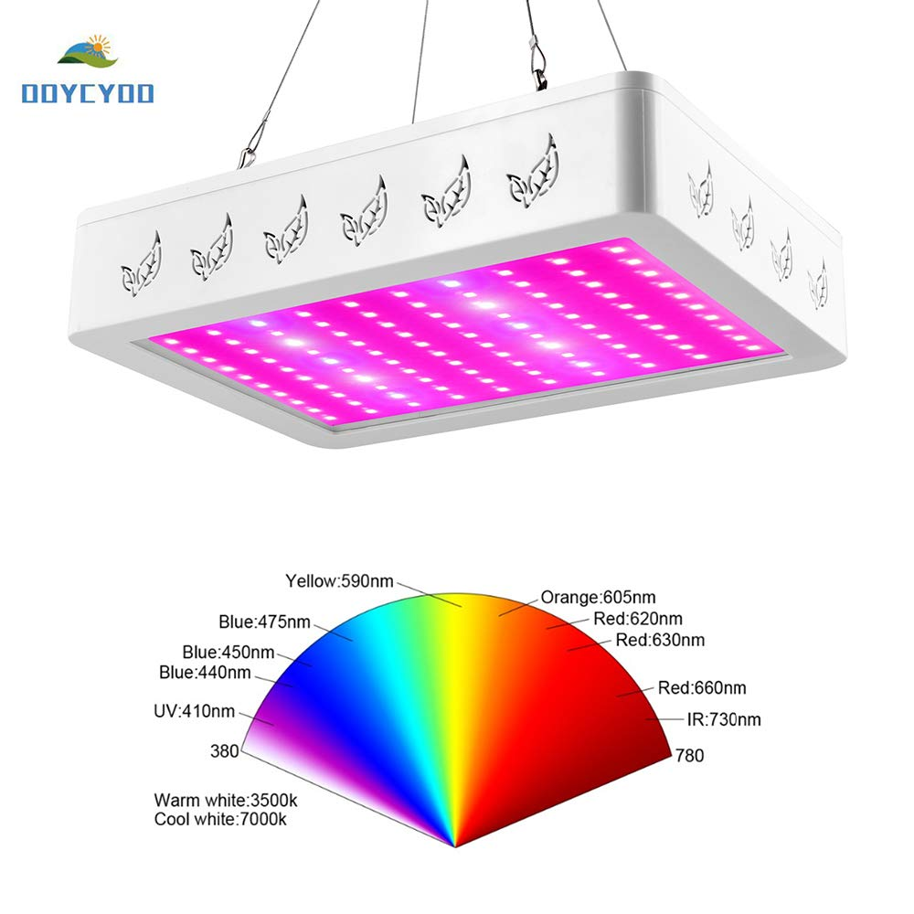 OOYCYOO 1200W LED Grow Light Full Spectrum Indoor Grow Lights for Plants Veg and Flower in Greenhouse Tent Plant 1200W(200pcs 6W LEDs)