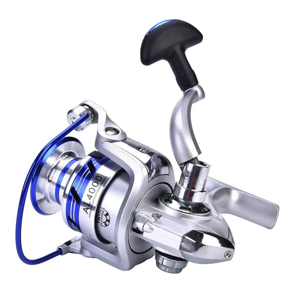 DEUKIO Fishing Reel Handle Rocker Arm Grip for Spinning Fishing Reel Baitcasting Handle Replacements for Abu Garcia Daiwa series 2000//3000// 4000//5000// 6000 Silver-Medium for 2000 /& 3000