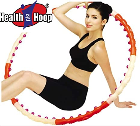 amazon com health hoop dynamic magnetic hula hoop workoutamazon com health hoop dynamic magnetic hula hoop workout fitness diet exercise 2 6lb step 1 sports \u0026 outdoors