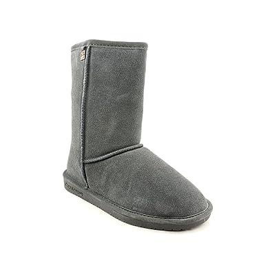 4604fbd56aa BEARPAW Womens Bianca Short II 8-Inch Suede Sheepskin Boot Shoe, Charcoal,  US