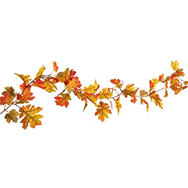 DD-upstep LED Light Decoration, Fall Maple Leaf Decoration Rattan, Lighted Autumn Pumpkin Maple Leaves Garland Decor for Thanksgiving Halloween (1.5M)
