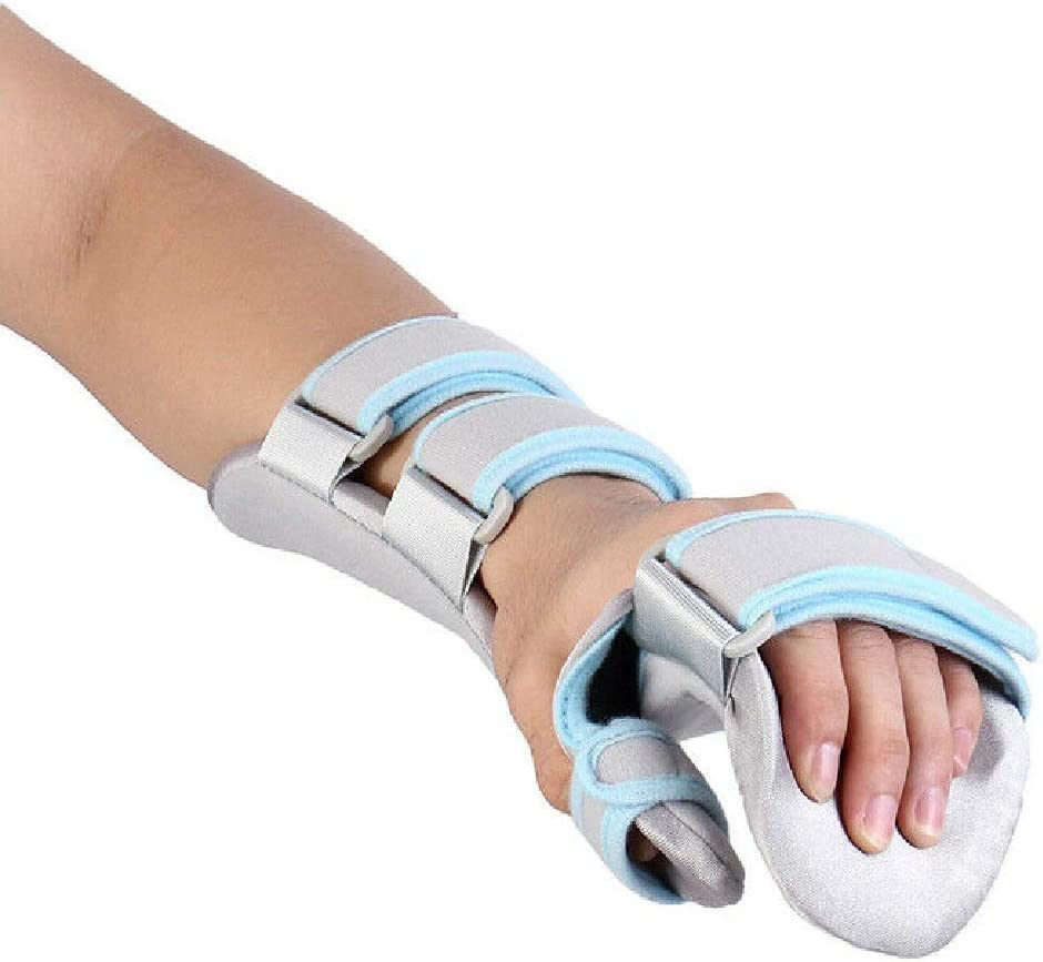 Stroke Hand Brace Support Hand Splint Soft Professional Functional Resting Hand/Wrist Separate Finger Orthosis -1 Unit (RIGHT)