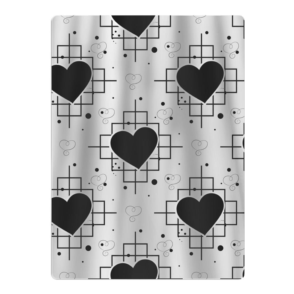 PMKOHD11 Black Heart and Line Pattern Beach Towels for Travel - Quick Dry Towel for Swimmers, Sand Free Towel 65'' X 90''