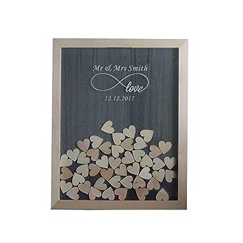 Bilderrahmen Aus Rustikalem Holz Mit 120 Holzherzen