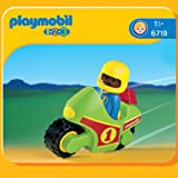 Playmobil - 6719 - Jeu de construction - Pilote / moto de course