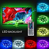 TIKLOK LED Lighting Strip 6.56ft,Multi-Color RGB - USB LED Backlight Strip with Dimmer for Flat Screen TV LCD, Desktop Monitors, Reduce Eye Strain and Increase Image Clarity, Atmosphere Create