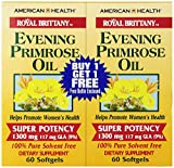 American Health Dietary Fiber Supplements, Royal Brittany Evening Primrose Oil, 120 Count For Sale