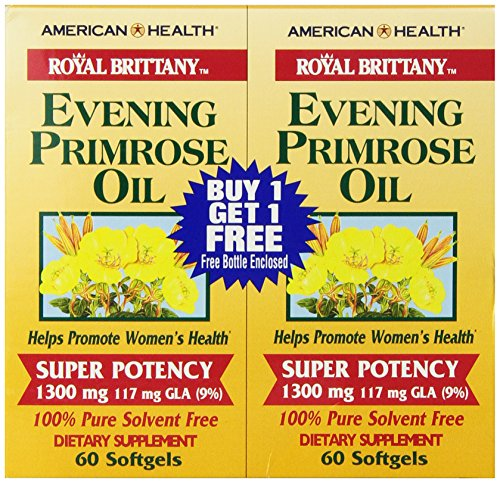 Royal Brittany Evening Primrose Oil (American Health Dietary Fiber Supplements, Royal Brittany Evening Primrose Oil, 120 Count)