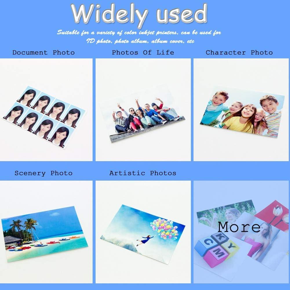 4R Fotopapier 100 Blatt Papier Set Kompatibel Mit HP Brother Canon Epson Und Andere Farbtintenstrahldrucker 6 Zoll