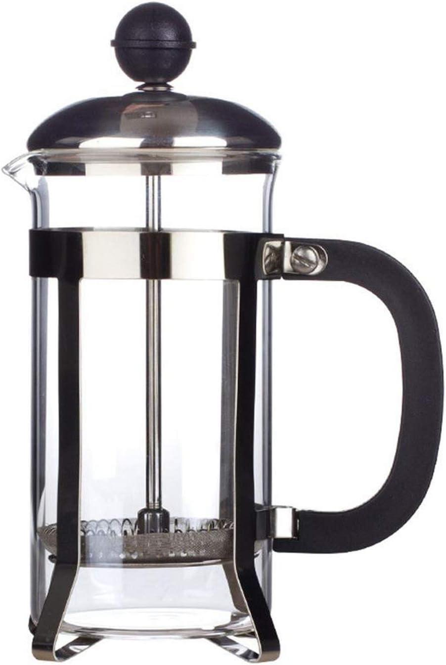 Cafetera de prensa francesa, 12 onzas, 0,35 litros (3 tazas), color negro: Amazon.es: Hogar