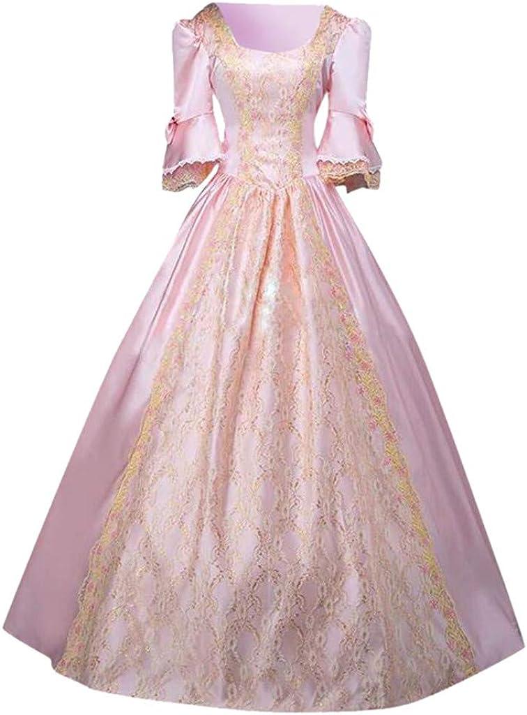Cinnamou - Vestido Medieval para Mujer gótico Victoriano, Vestido ...