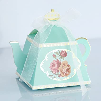 50pcs teacups candy boxes tea party birthday and baby shower favor box cute tea