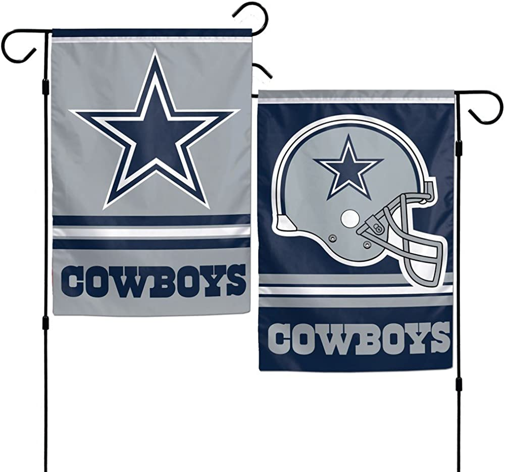 "Dallas Cowboys Polyester 12""X18"" 2 SIDED Garden Yard Wall Flag Wincraft"