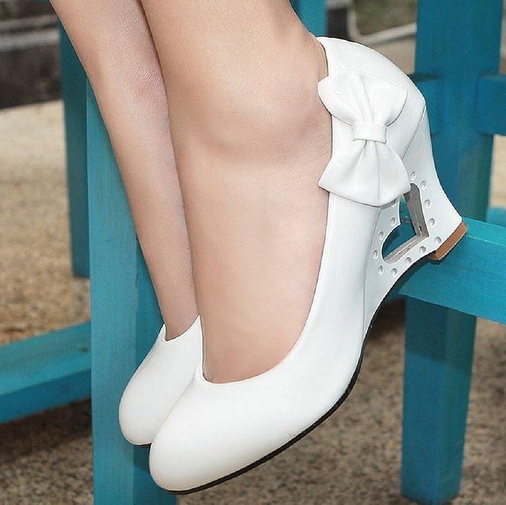 Pumps Pumps Pumps 5 Farben Weiß Creme Rosa Schwarz Gelb Keil Hochzeit High Heels Schuhe Brautschuhe Braut Damenschuhe 62ba5e