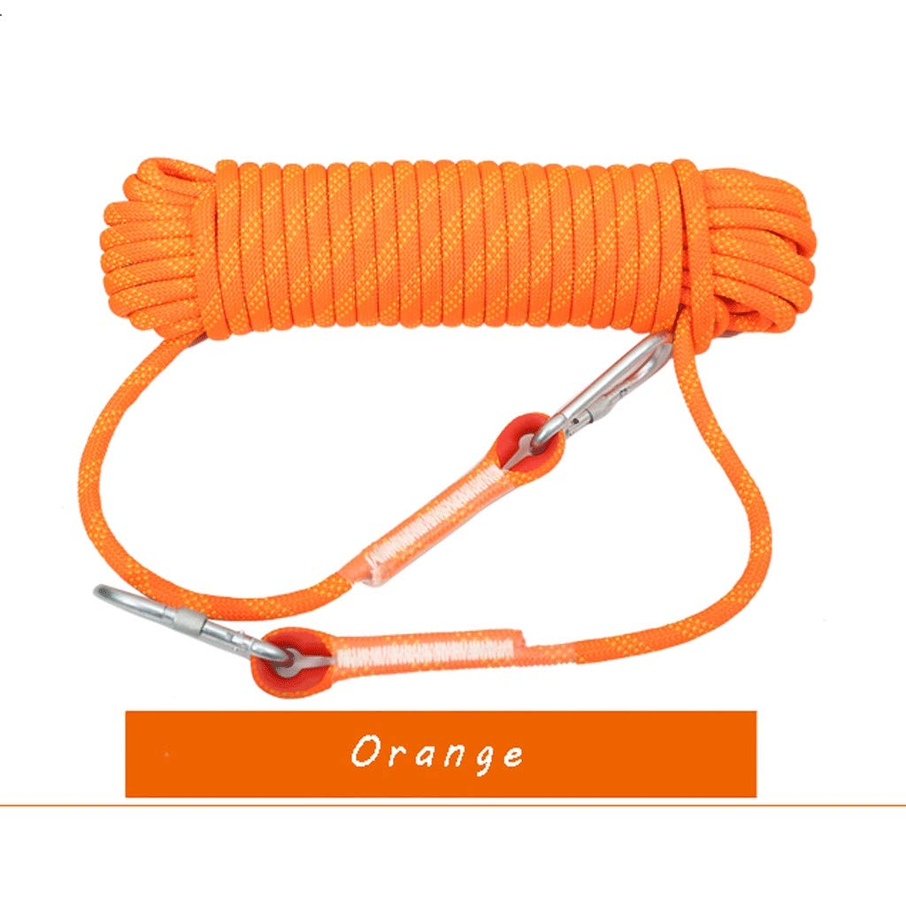 MLM clbrp Outdoor Climbing Rope, Extreme ice Climbing Rope, Outdoor Camping Safety Rope Lifeline Spider-Man Safety Rope, a Variety of Colors Available red (Color : Orange, Size : 40m) by MLM clbrp