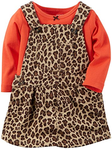 Carter's Baby Girls' 2 Piece Print Jumper Set (Baby) - Leopard - (Leopard Jumper)