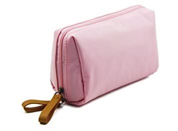 89f0fdb7d535 Amazon.com   Admirable Idea Women Travel Cosmetic Bags Small Makeup Pouch  for Ladies Girls - light pink   Beauty