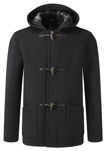 Original Montgomery Mens Short Duffle Coat -- Toggle Coat Charcoal ...