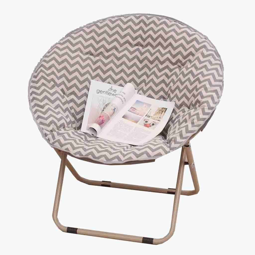 B YD Lazy Chair - Recliner Balcony Adult Moon Chair Large Foldable Moon Chair No Footstool (color   B)
