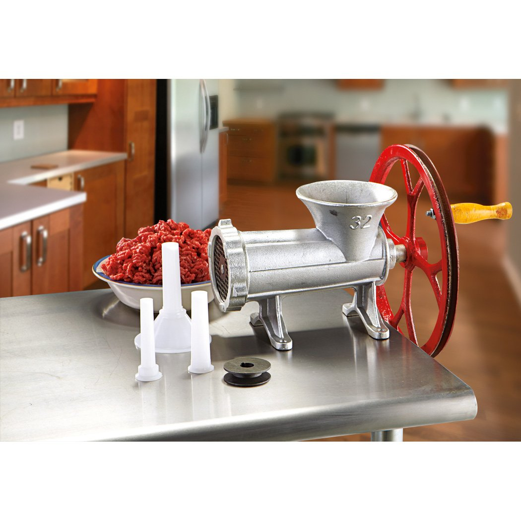 Sportsman Series Number-32 Cast Iron Meat Grinder With Pulley