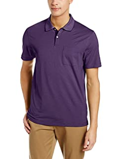 d10697547671f Van Heusen Mens Short Sleeve Interlock Polo Shirt at Amazon Men s ...