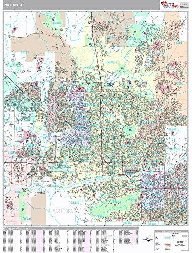 Phoenix, AZ City Wall Map (Premium Style, Wooden Rails, 48x64 - Airport Az Phoenix