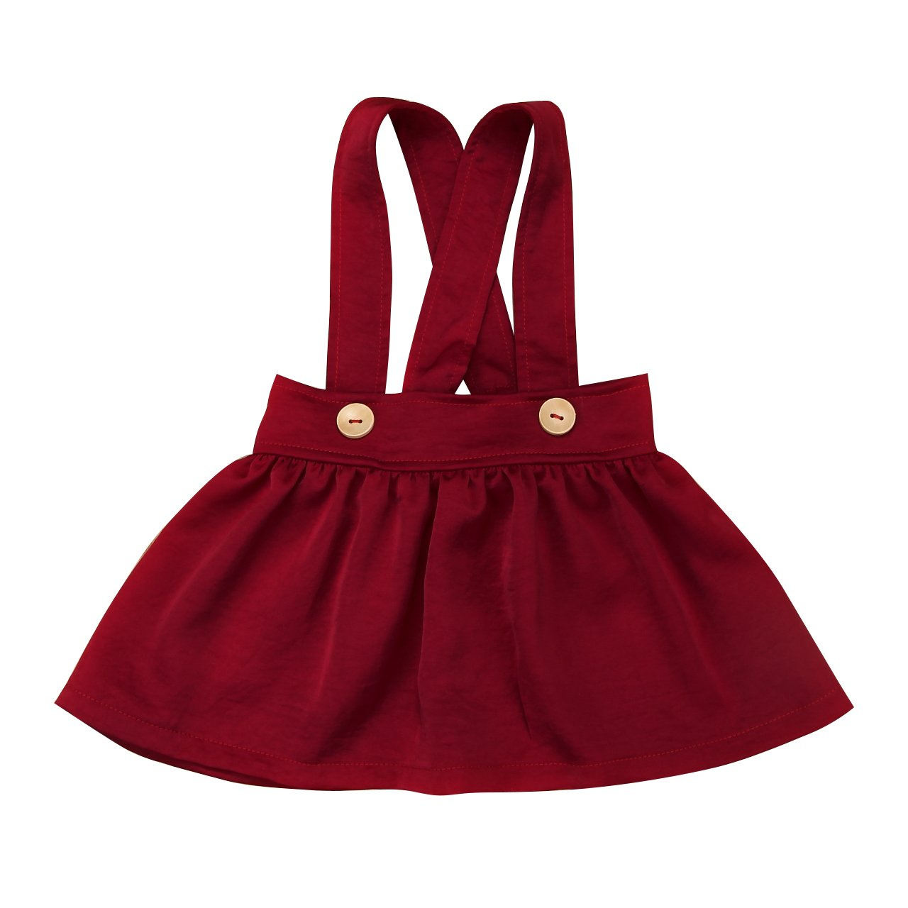 Mornbaby Baby Girl Buttons Suspender Skirt Overall Outfit Brace Summer Dress Clothes