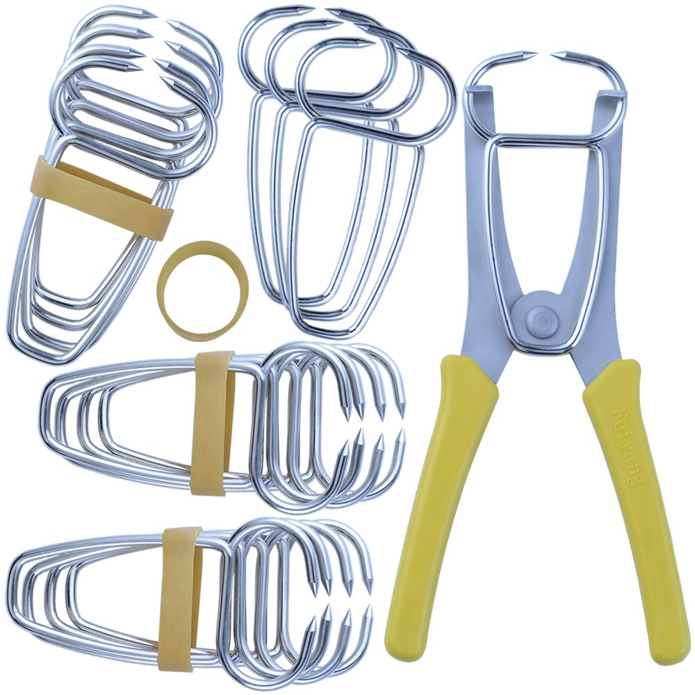 Feiyang Miter Spring Pliers and 16 Miter Clamps Use For Wood Trim & Moldings & Picture Frames & Woodworking
