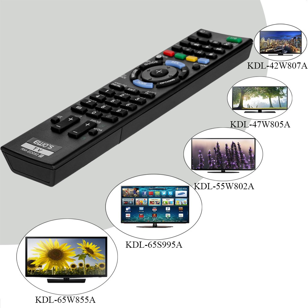 Replacement Remote For Sony KDL-47W807A KD-65X9005A KDL-55W905A KDL-42W655A TV
