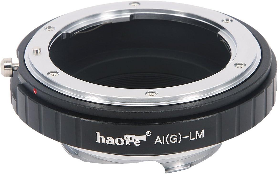 M8 M-E M4 M5 M3 M240P M6 M-P Haoge Lens Mount Adapter for Nikon Nikkor F AI//AIS//G//D Lens to Leica M LM Mount Camera Such as M240 M2 M262 M-A M9-P MP M M10 M1 M9 M Monochrom M7