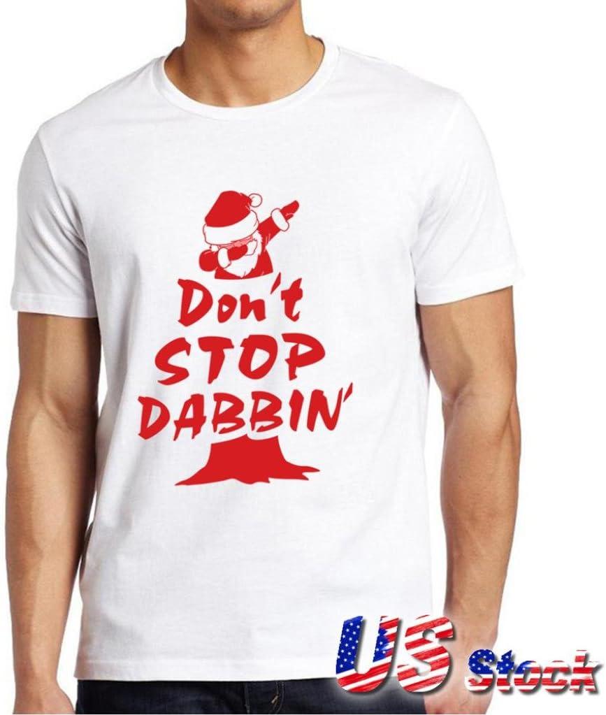 Caliente venta Fashion. Los hombres de la T, neartime Papá Noel Don t stop dabbin Árbol de Navidad hombres camiseta de algodón Tops de manga corta: Amazon.es: Hogar