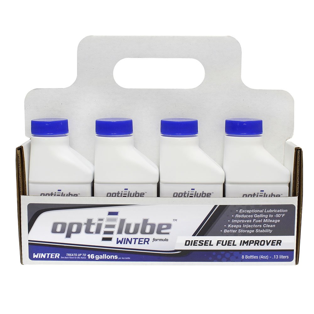 Opti-Lube Winter Formula Diesel Fuel Additive: 4oz 8 Pack Treats up to 16 Gallons per 4 oz bottle OPT-W4-8P