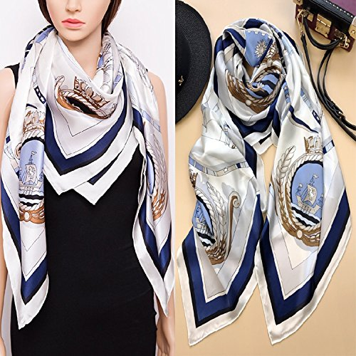 Classic Silk Silk Scarf Shawl Scarf girl by KYXXLD